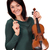 beautiful girl with violin on white stock photo © goce