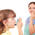 little girl using inhaler due to smoke stock photo © goce