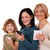 drie · generatie · meisje · tienermeisje · vrouw · tablet - stockfoto © goce
