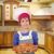 молодые · повар · подготовленный · итальянский · пиццы · кухне - Сток-фото © goce