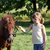beautiful little girl and pony horse pet on field stock photo © goce