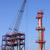 new refinery construction site with crane stock photo © goce