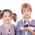 menino · telefone · criança · móvel · falante - foto stock © goce