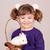 feliz · little · girl · anão · coelho · animal · de · estimação · criança - foto stock © goce