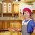 szakács · zsonglőrködés · paprikák · vicces · színek · étel - stock fotó © goce