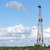 land oil drilling rig on field landscape stock photo © goce