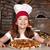 kislány · pizza · mosolyog · fiatal · lány · fehér · lány - stock fotó © goce