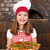küçük · kız · pişirmek · pizza · pizzacı · mutlu · çocuk - stok fotoğraf © goce