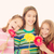 boldog · gyerekek · virágok · gyerekek · virág · ajándékok - stock fotó © godfer