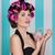 portret · haren · schoonheid · jonge · brunette · vrouw - stockfoto © godfer