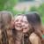 szczęśliwy · dziewcząt · śmiechem · doskonały · biały · prosto - zdjęcia stock © godfer