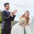 happy bride and groom stock photo © godfer