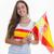 スペイン国旗 · 石 · バレンシア · スペイン · 空 · 城 - ストックフォト © godfer