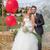 bridal couple newly weds at wedding stock photo © godfer