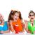 children eating icecream stock photo © godfer