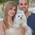 people with pet maltese dog stock photo © godfer