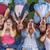 grupo · ninos · cantando · verano · diversión - foto stock © godfer