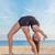 rugalmas · tornász · tánc · póz · sport · fitnessz - stock fotó © godfer