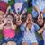 group of kids shouting or singing stock photo © godfer