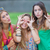 pretty group of teens girls stock photo © godfer