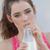 woman drinking milk stock photo © godfer