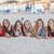 group on holiday on calvia beach majorca spain stock photo © godfer