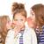 kids whispering bad news stock photo © godfer