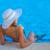 férias · de · verão · mallorca · mulher · leitura · livro · menina - foto stock © godfer