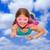 criança · menina · poder · luvas · de · boxe - foto stock © godfer
