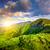 夏 · 風景 · 山 · 日没 · 山 · パノラマ - ストックフォト © goinyk