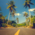 いい · 道路 · ヤシの木 · 青空 · 雲 · 風景 - ストックフォト © goinyk