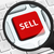 sell button under the magnifying glass stock photo © goir