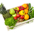 fruits · légumes · bois · caisse · isolé · blanche - photo stock © goir