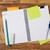 papír · jegyzet · csatolva · notebook · magasról · fotózva · kilátás - stock fotó © goir