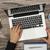 werken · laptop · rechtstreeks · boven · man - stockfoto © goir