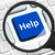 help button under the magnifying glass stock photo © goir