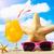 starfish · lunettes · de · soleil · cocktail · sable · ciel · plage - photo stock © goir
