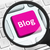 blog button under the magnifying glass stock photo © goir