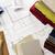 планов · чертежи · строительные · материалы · служба · карандашом - Сток-фото © goir