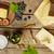 kaas · variatie · rode · wijn · houten · tafel · wijn · vruchten - stockfoto © goir