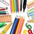 tanszerek · izolált · fehér · iskola · toll · színek - stock fotó © goir