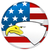 badge with head of eagle and american flag stock photo © gomixer
