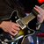 zenész · játszik · elektomos · gitár · színpad · férfi - stock fotó © gordo25