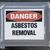 gevaar · asbest · verwijdering · teken · school · venster - stockfoto © Gordo25