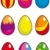 colorful set easter eggs stock photo © grafistart