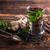 té · de · hierbas · taza · frescos · menta · mesa · de · madera · flor - foto stock © grafvision