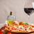 Italiaans · pizza · rode · wijn · kaas · tomaten · olijven - stockfoto © grafvision