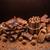 chocolate · doce · nozes · picado · barras - foto stock © grafvision