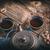 öntöttvas · teáskanna · kicsi · csésze · űr · szöveg - stock fotó © grafvision