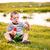 jongen · bubbels · gras · bloemen · voorjaar · gelukkig - stockfoto © grafvision